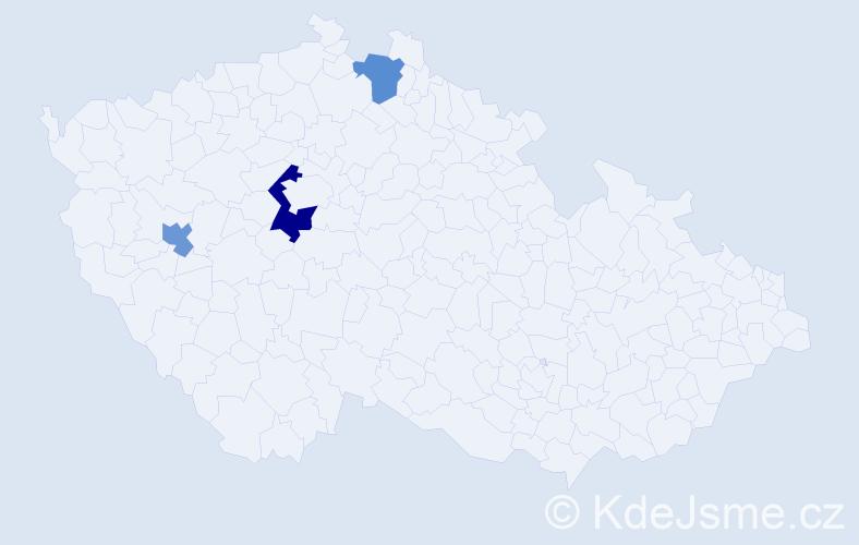 Příjmení: 'Cairns', počet výskytů 4 v celé ČR