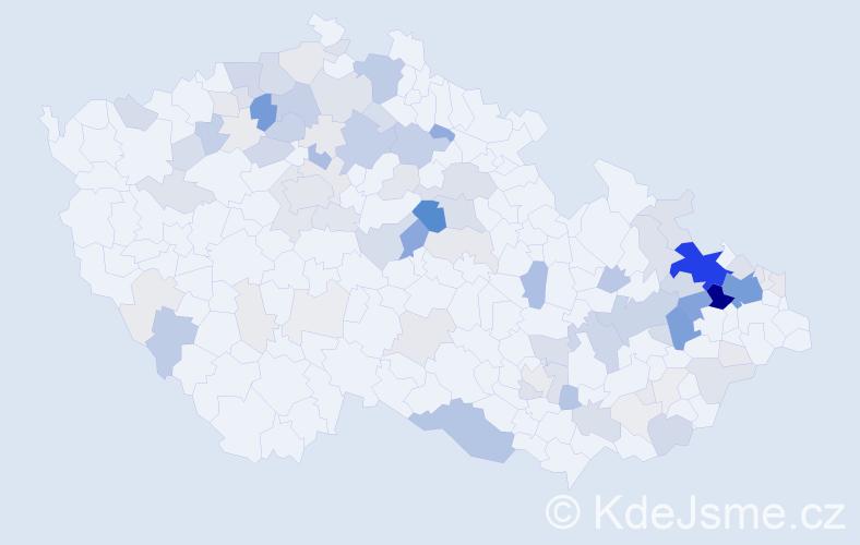 Příjmení: 'Honová', počet výskytů 419 v celé ČR