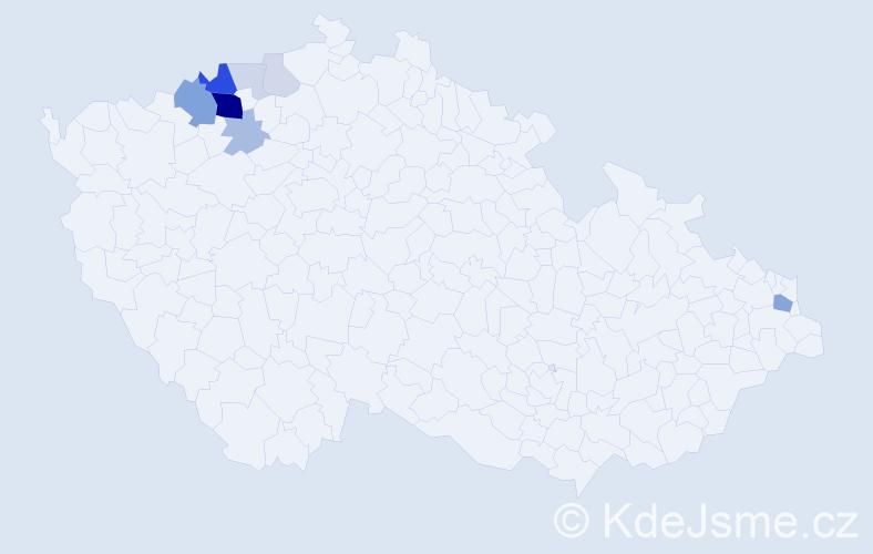 Příjmení: 'Gänslerová', počet výskytů 24 v celé ČR