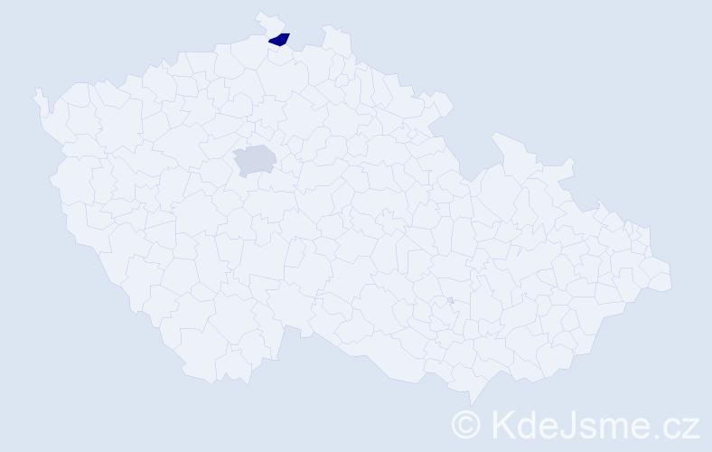 Příjmení: 'Ersan', počet výskytů 3 v celé ČR