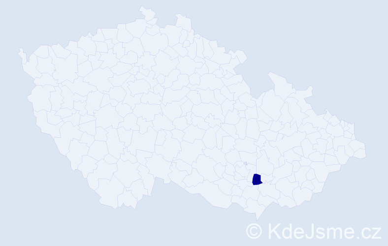 Příjmení: 'Andrášy', počet výskytů 5 v celé ČR