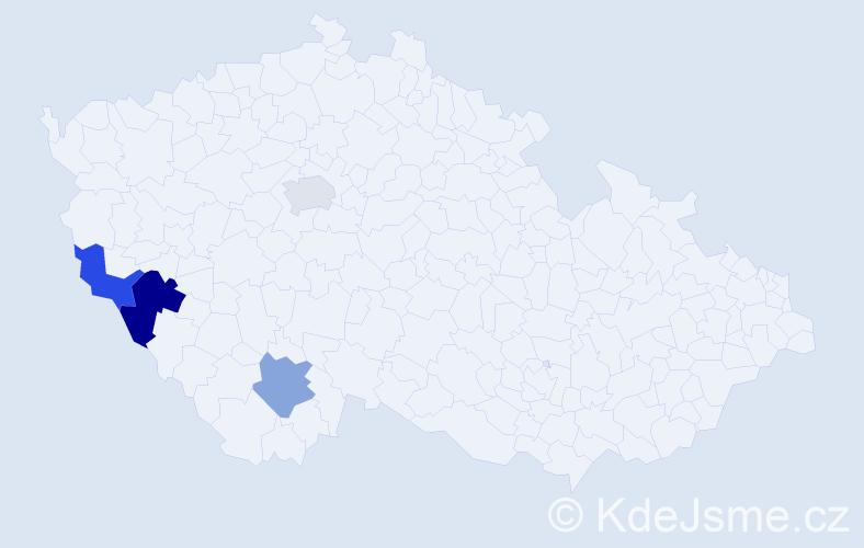 Příjmení: 'Achatz', počet výskytů 5 v celé ČR
