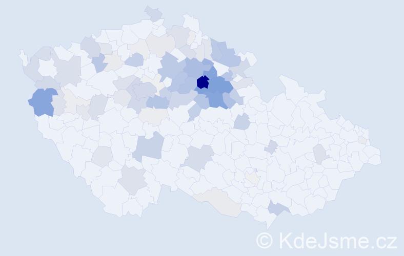 Příjmení: 'Bydžovský', počet výskytů 371 v celé ČR