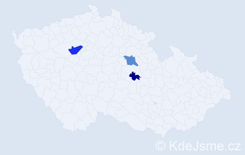 Příjmení: 'Baffi', počet výskytů 6 v celé ČR