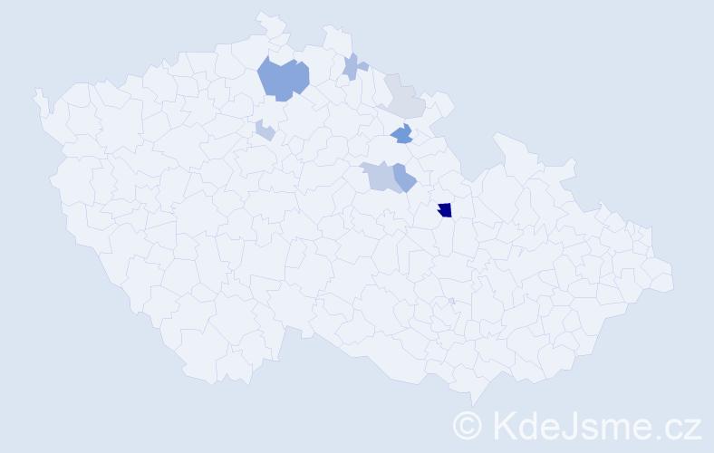 Příjmení: 'Jambora', počet výskytů 20 v celé ČR