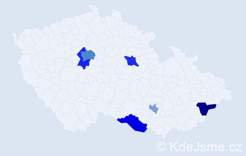 Příjmení: 'Fleischnerová', počet výskytů 10 v celé ČR