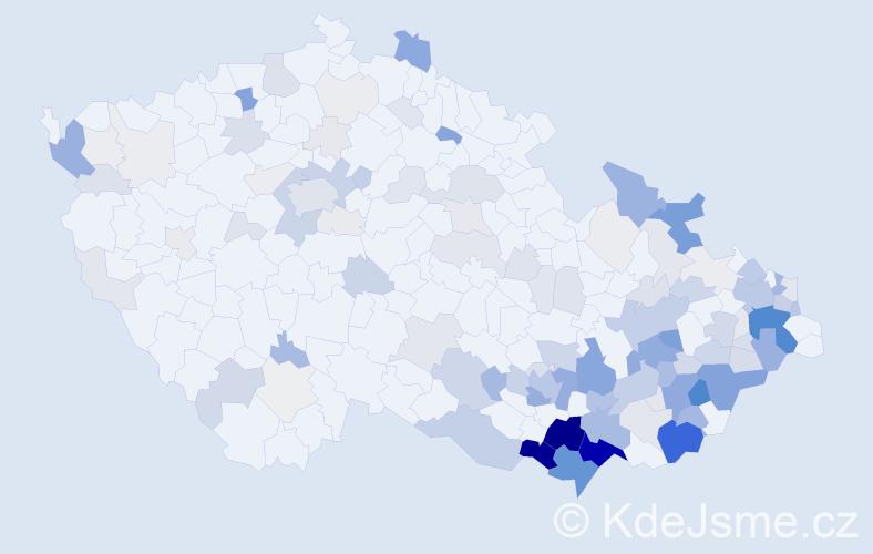Příjmení: 'Bařinová', počet výskytů 548 v celé ČR