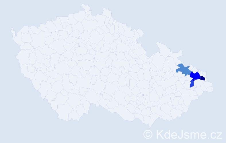 Příjmení: 'Gřeš', počet výskytů 23 v celé ČR