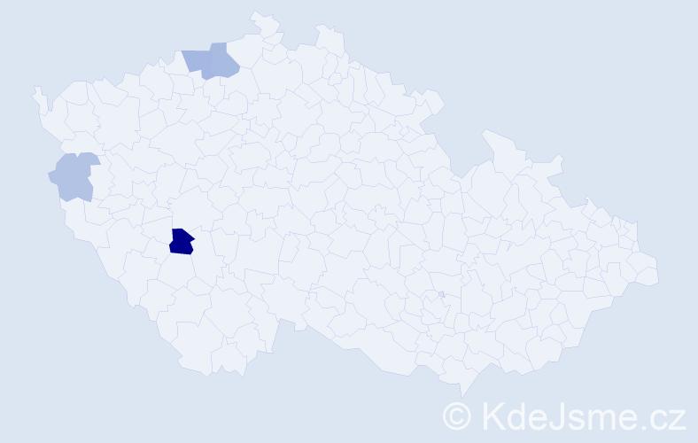 Příjmení: 'Koleň', počet výskytů 10 v celé ČR