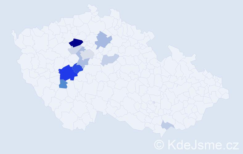 Příjmení: 'Hampeisová', počet výskytů 28 v celé ČR