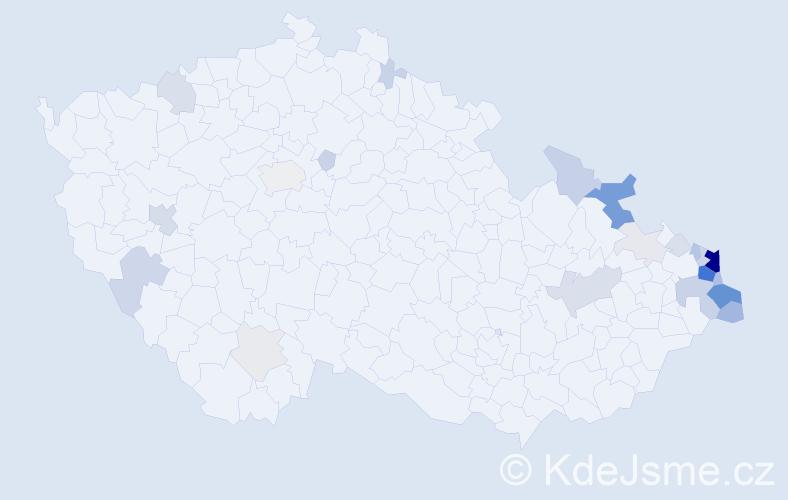 Příjmení: 'Galuszka', počet výskytů 114 v celé ČR