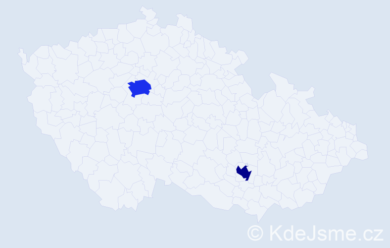 Příjmení: 'Demillan', počet výskytů 3 v celé ČR