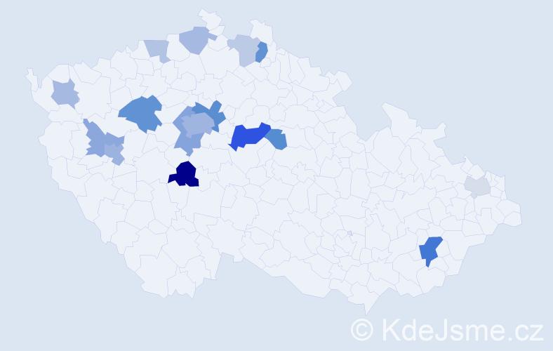 Příjmení: 'Firstová', počet výskytů 38 v celé ČR