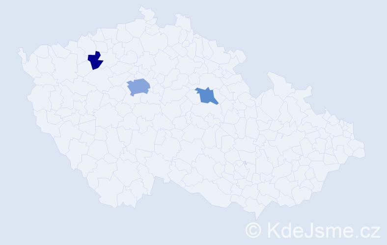 Příjmení: 'Eybergerová', počet výskytů 16 v celé ČR