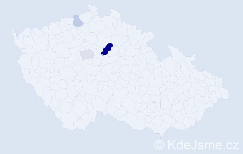 Příjmení: 'Gott', počet výskytů 8 v celé ČR