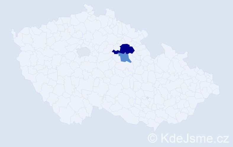 Příjmení: 'Dařbuján', počet výskytů 8 v celé ČR
