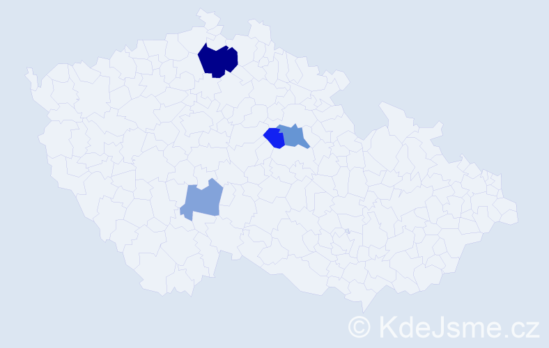 Příjmení: 'Klukas', počet výskytů 8 v celé ČR