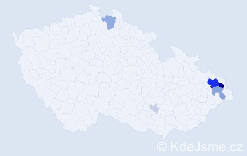 Příjmení: 'Grabařová', počet výskytů 14 v celé ČR