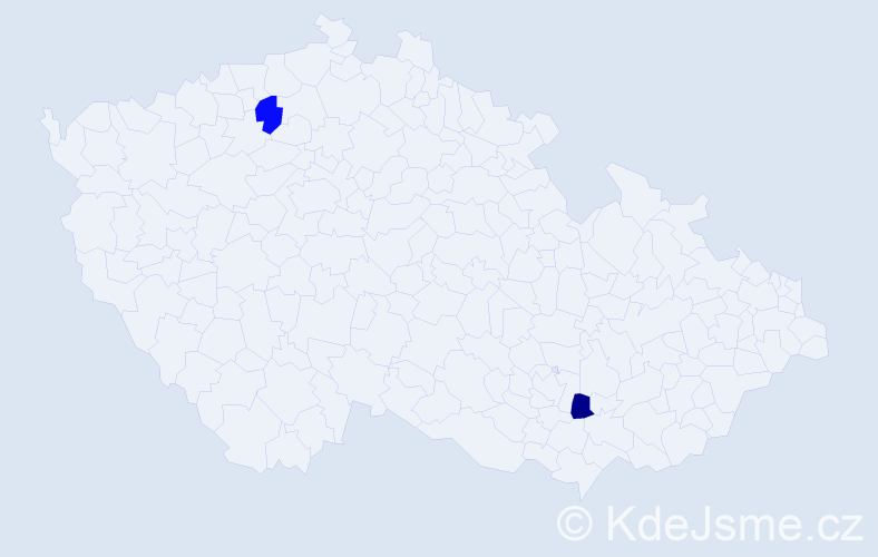 Příjmení: 'Ferreri', počet výskytů 2 v celé ČR