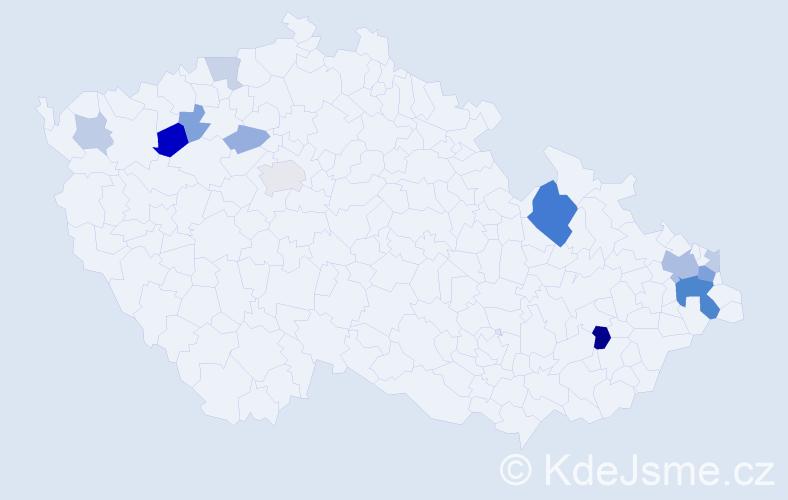 Příjmení: 'Figová', počet výskytů 30 v celé ČR