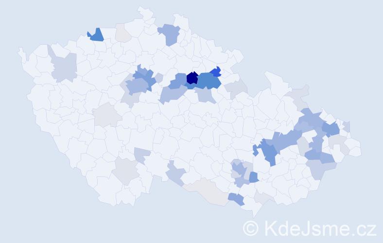 Příjmení: 'Berousek', počet výskytů 260 v celé ČR