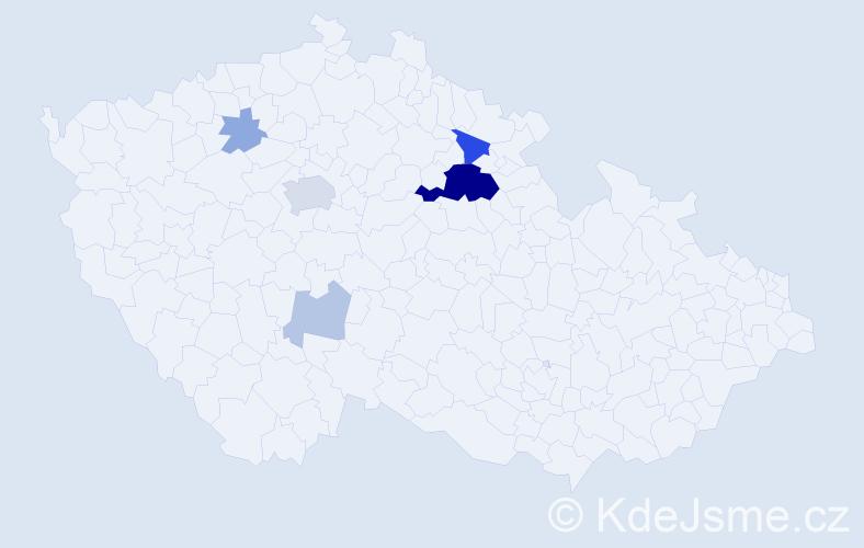 Příjmení: 'Dreziová', počet výskytů 20 v celé ČR