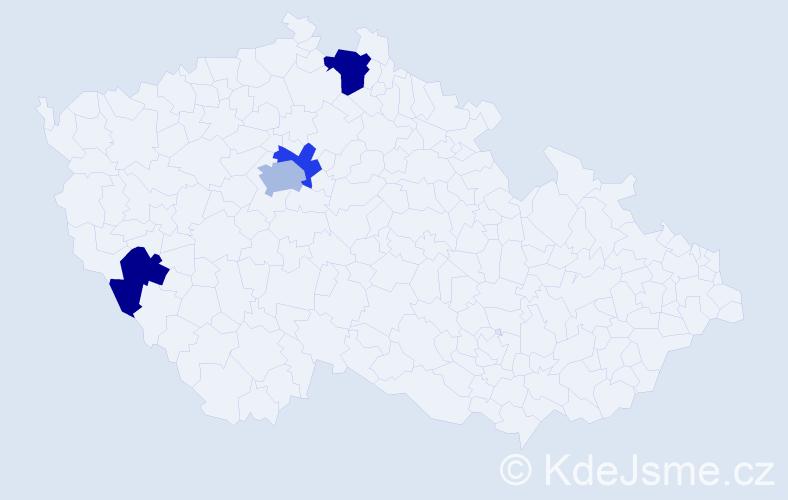 Příjmení: 'Čulejová', počet výskytů 6 v celé ČR