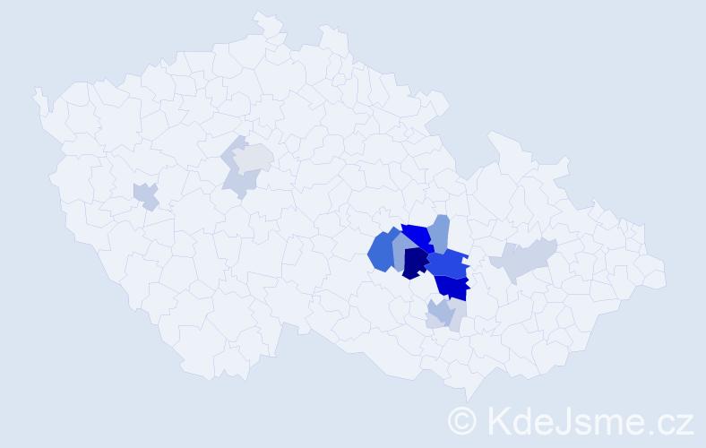 Příjmení: 'Čípková', počet výskytů 59 v celé ČR