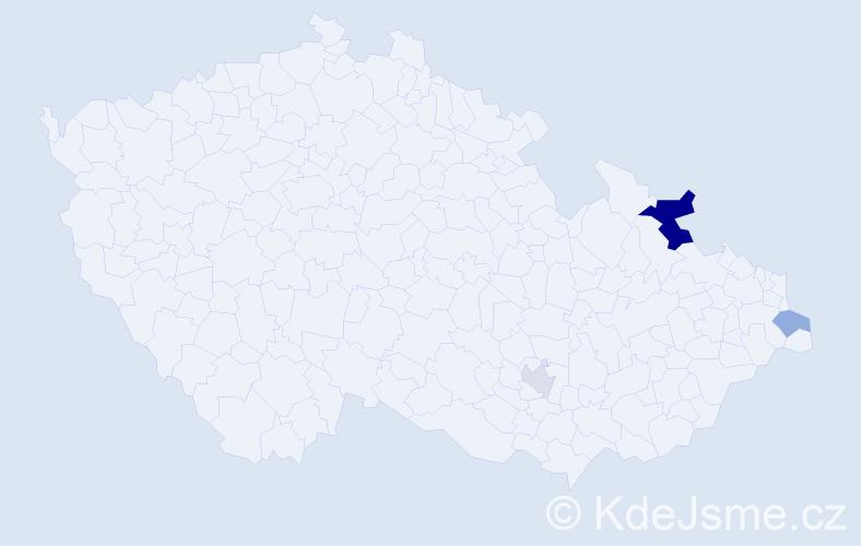 Příjmení: 'Bondi', počet výskytů 6 v celé ČR