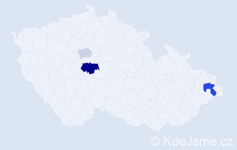 Příjmení: 'Kellenberger', počet výskytů 6 v celé ČR