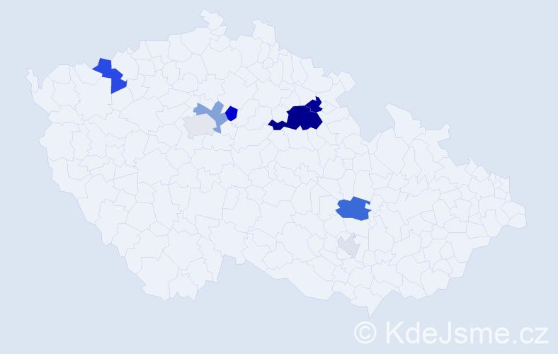 Příjmení: 'Hodyc', počet výskytů 26 v celé ČR