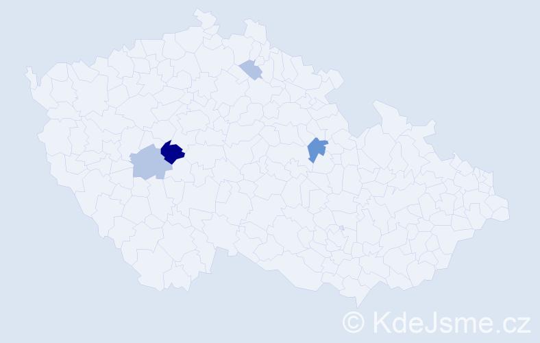 Příjmení: 'Kokštejn', počet výskytů 11 v celé ČR