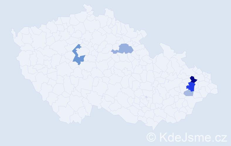 Příjmení: 'Bartolotti', počet výskytů 18 v celé ČR