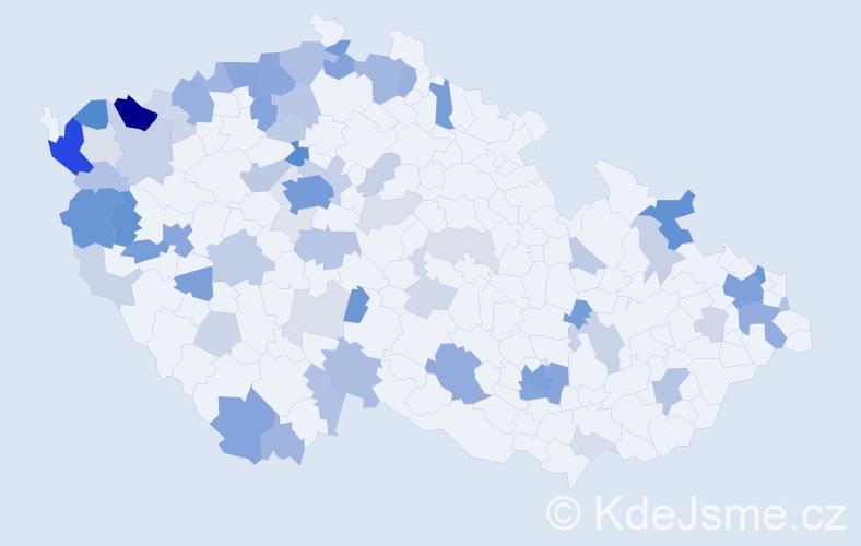 Příjmení: 'Do', počet výskytů 241 v celé ČR