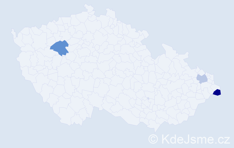 Příjmení: 'Byczanski', počet výskytů 3 v celé ČR