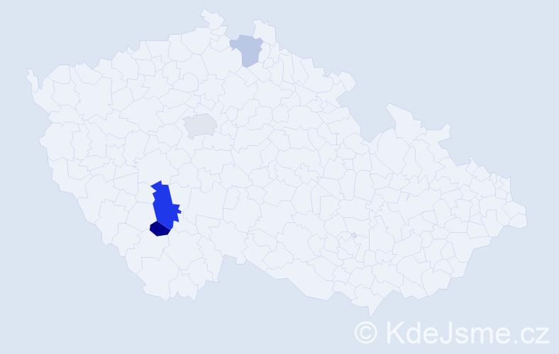 Příjmení: 'Kassay', počet výskytů 7 v celé ČR