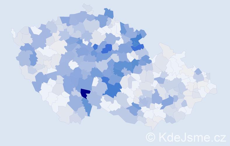 Příjmení: 'Čáp', počet výskytů 1801 v celé ČR
