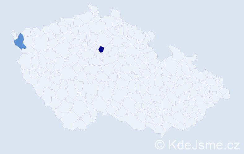 Příjmení: 'Babyncová', počet výskytů 4 v celé ČR
