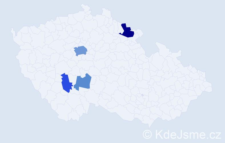 Příjmení: 'Elhenická', počet výskytů 11 v celé ČR