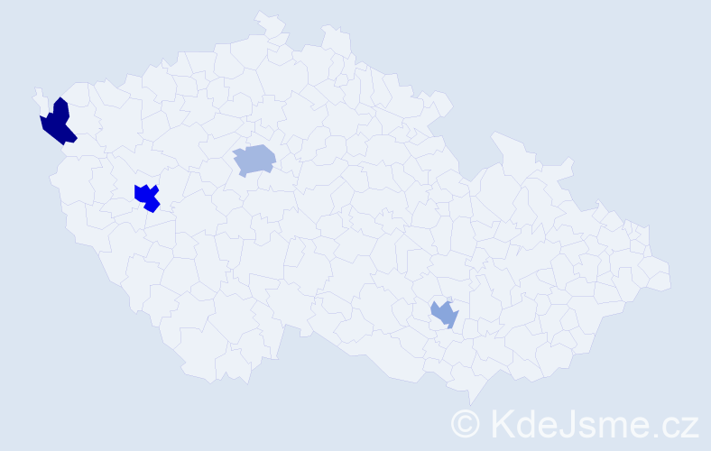 Příjmení: 'Degťar', počet výskytů 6 v celé ČR