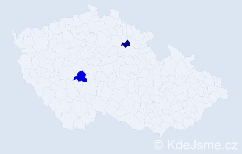 Příjmení: 'Islammiah', počet výskytů 2 v celé ČR