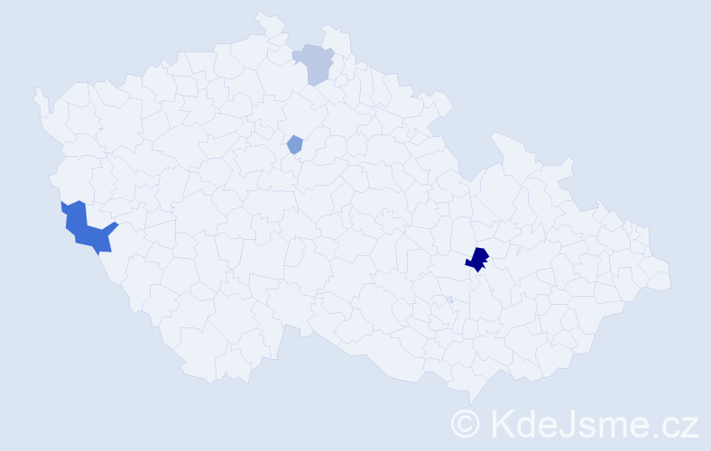 Příjmení: 'Lepiešová', počet výskytů 9 v celé ČR