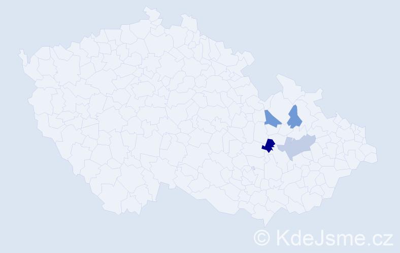 Příjmení: 'Klepperová', počet výskytů 7 v celé ČR