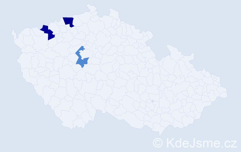 Příjmení: 'Ďačenko', počet výskytů 8 v celé ČR