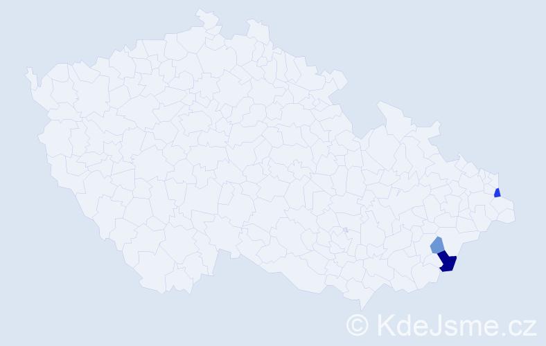 Příjmení: 'Cekierová', počet výskytů 8 v celé ČR