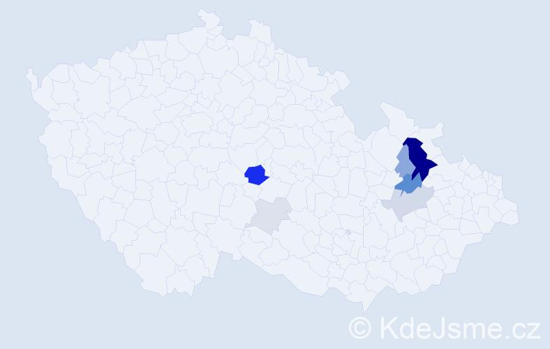 Příjmení: 'Indreiová', počet výskytů 22 v celé ČR