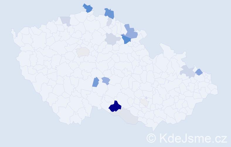 Příjmení: 'Engelmann', počet výskytů 41 v celé ČR