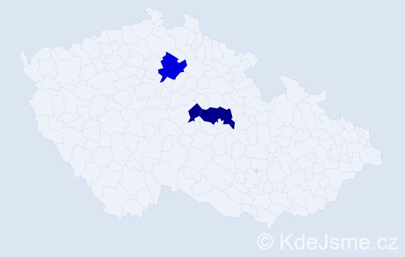 Příjmení: 'Ilizi', počet výskytů 7 v celé ČR