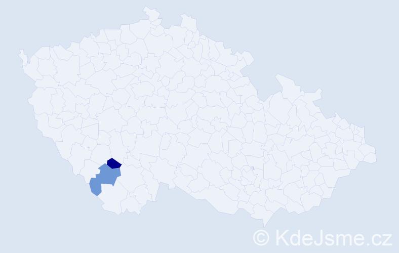 Příjmení: 'Gufrovičová', počet výskytů 2 v celé ČR