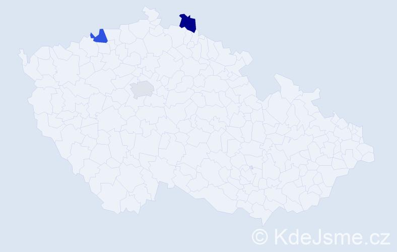 Příjmení: 'Fisenková', počet výskytů 3 v celé ČR